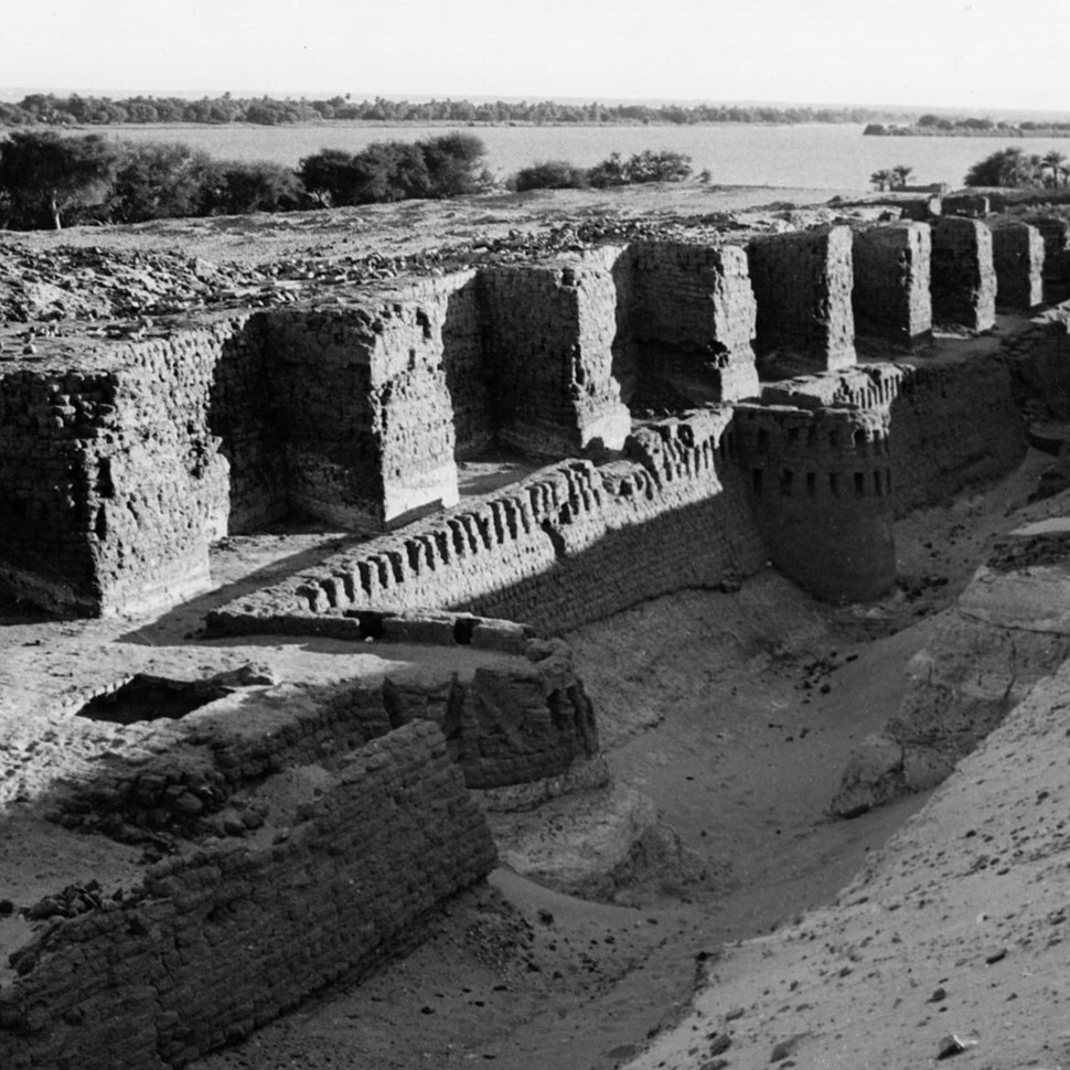 Fortress of the Middle Kingdom, reconstructed under the New Kingdom ( about 1200 B.C.)