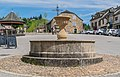 Fountain at Place du Faubourg in Najac.jpg