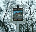 Fox and Hounds pub sign at Gt. Moulton - geograph.org.uk - 134846.jpg