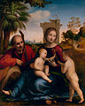 Fra Bartolomeo - The Rest on the Flight into Egypt with St. John the Baptist (ca. 1509) - Google Art Project.jpg