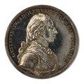 Framsida av medalj med bild av Gustav IV Adolf i profil - Skoklosters slott - 99542.tif