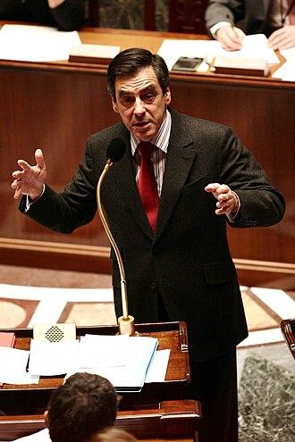 François Fillon - François Fillon speaking in the National Assembly.