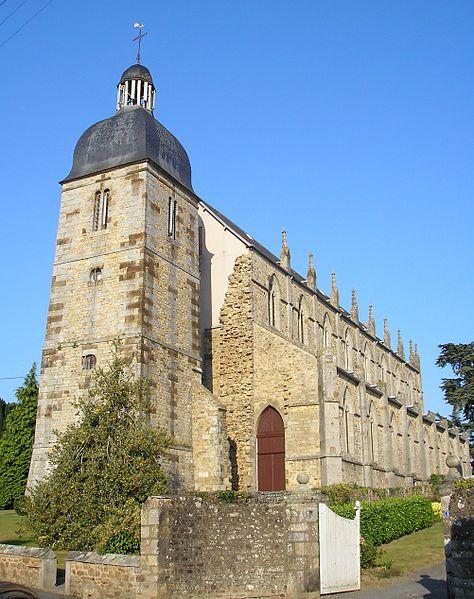 Ducey (Normandie, France). L'église Saint-Pair.