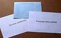 France élections présidentielles 6 mai 2012 bulletins de vote second tour.JPG