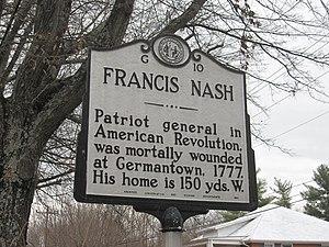 Francis Nash - Image: Francis Nash Marker