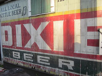 Dixie Brewing Company - An old Dixie Beer outdoor advertisement, revealed during renovation in New Orleans' Faubourg Marigny neighborhood.