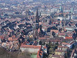 Freiburg city from Schlossberg