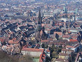 Freiburg set fra Schlossberg