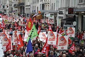 French Communist Party - PCF rallying for a 6th republic, 2012 in Paris