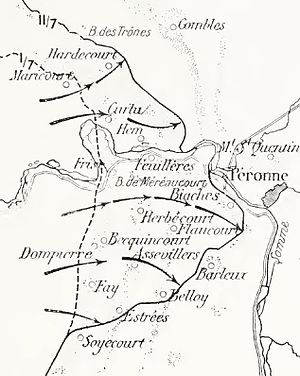 Battle of Albert (1916) - Image: French advances on the Somme, 1 11 july 1916