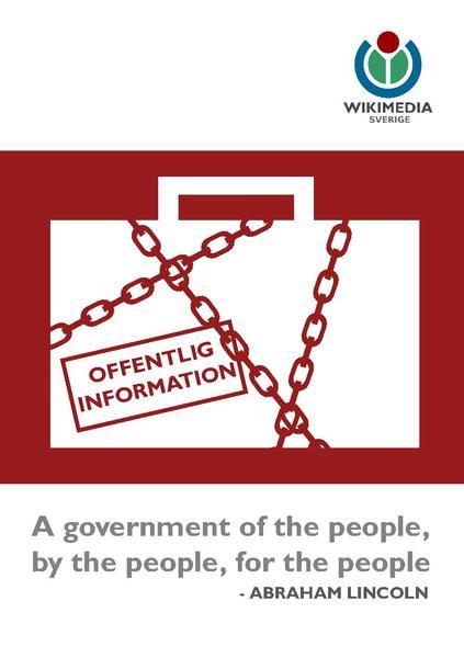 Fri offentlig information - en broschyr om varför det är viktigt.