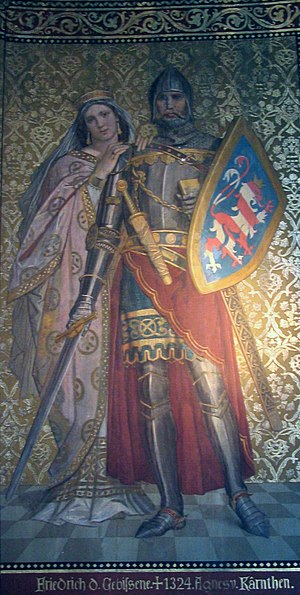 Frederick I, Margrave of Meissen - Frederick I, Romanticist 19th-century painting from the Albrechtsburg in Meißen.