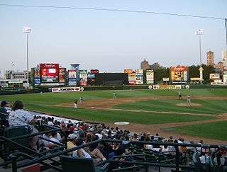 Frontier Field Baseball stadium in Rochester, New York, home of the Red Wings