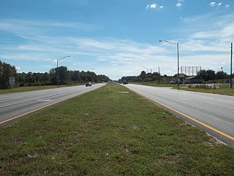 U.S. Route 98 in Florida - CR 630/US 27/US 98 intersection, looking south