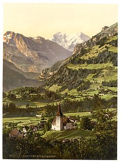 Frutigen and Balmhorn, Bernese Oberland, Switzerland-LCCN2001701145.jpg