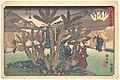 Fukagawa Hachiman Keidai (Niken Jyaya)-江戸高名会亭尽 深川八幡境内 二軒茶屋-Tea-house inside Hachiman Shrine MET DP123293.jpg
