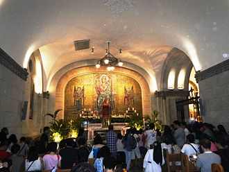 Seven Churches Visitation - Altar of Repose, Manila Cathedral, the Philippines, 17 April 2014.