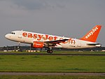 G-EZIR easyJet Airbus A319-111, takeoff from Schiphol (EHAM-AMS) runway 36L pic3.JPG