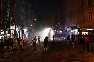 2017 G20 Hamburg summit - Riots on the Schulterblatt