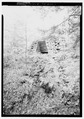 GENERAL VIEW OF FURNACE LOOKING EAST - Shade Furnace, Reitz, Somerset County, PA HAER PA,56-ROCK.V,1-1.tif