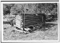 GENERAL VIEW OF LOG PIG PEN - Walker Family Farm, Log Pig Pen, Gatlinburg, Sevier County, TN HABS TENN,78-GAT,1G-1.tif