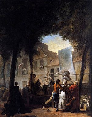 Gabriel de Saint-Aubin - A Street Show in Paris by Gabriel de Saint-Aubin, National Gallery, 1760