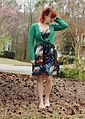 Galaxy Print Dress, Green Cardigan, and Holographic Peep Toe Shoes (16841612937).jpg