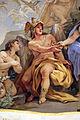 Galleria di luca giordano, 1682-85, Minerva protettrice delle Arti e delle Scienze 05 ingegno.JPG
