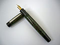 Gama Supreme Flat Top ebonite eyedropper fountain pen.JPG