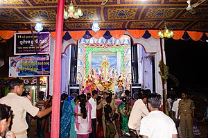 Jatani - A typical pandal during the Ganesh Puja celebration in Raja Bazar in 2012
