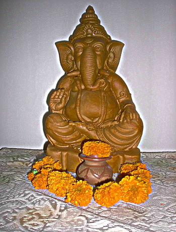 clay image of the hindu deity Ganesha