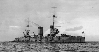 Imperial Russian battleship Gangut in Helsinki on 27 June 1915. The lead ship of her class and last to be completed, she was named for the Battle of Gangut in 1714. After seeing no notable combat in World War I, she was renamed to Oktyabrskaya Revolutsiya in 1925. After being refitted in 1931 to 1934, she fought in the Winter War and several battles of World War II.