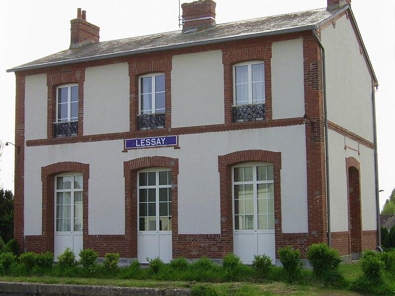 Gare de Lessay sur la ligne de chemin de fer de Cherbourg à Coutances
