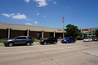 Garland, Texas - The Nicholson Memorial Library System's Central Library in July 2015