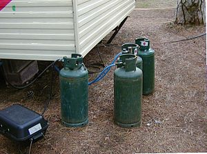 2012 Brindisi school bombing - Three gas cylinders like these pictured here were used as bombs