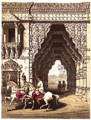 Surendranagar district - Gate at Zinzuwada, Gujarat, India