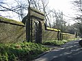 Gate entrance and walled garden, Northbourne Court - geograph.org.uk - 327526.jpg