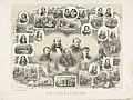Gedenkplaat bij het 25-jarige regeringsjubileum van koning Willem III 1849-1874 De Oranjeboom (titel op object), RP-P-OB-89.562.jpg