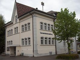 Luterbach village administration building
