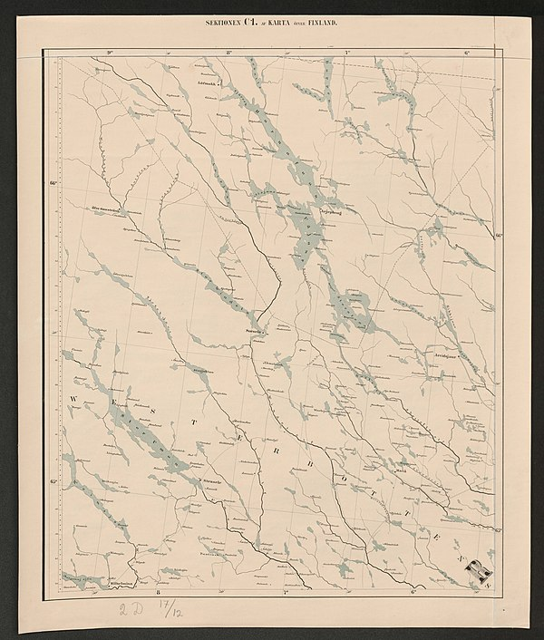 600px general map of the grand duchy of finland 1863 sheet c1