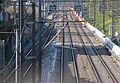 Geneva - Lyon and Geneva - Airport railway lines at Vernier looking toward Airport and Lyon.jpg