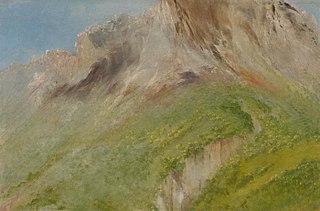 Ta-wa-que-nah, or the Rocky Mountain, Near the Comanche Village