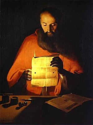 Georges de La Tour - Saint Jerome reading