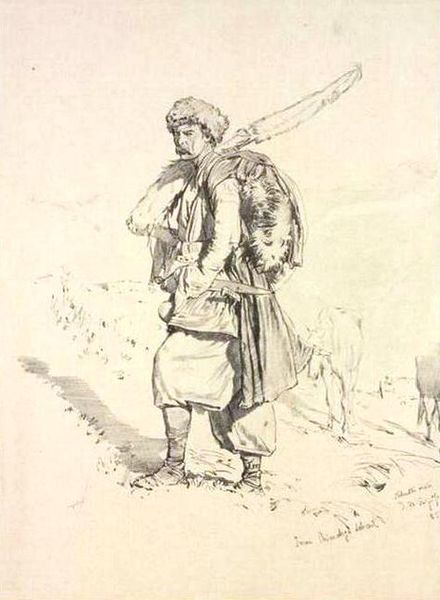 File:Georgian militiaman by T. Horschelt, 1858-1863 (4).jpg