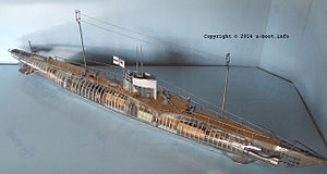 German Type UB III submarine - Image: German Type UB III submarine model 2