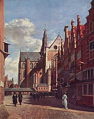 The Grote Kerk at Haarlem, Seen from the City Hall