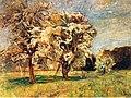 Gertrud Staats Landschaft mit blühenden Bäumen SMG 1923.jpg