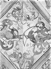 gewelfschildering in 1928 blootgelegd; kooromgang 2e vak zuidzijde - deventer - 20054804 - rce