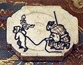 Giappone, periodo edo, netsuke (fermaglio per inroo), xix secolo, 105 uomo con scimmia al guinzaglio.jpg