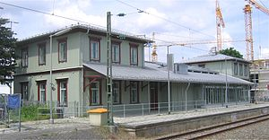 Munich Giesing station - Former station building seen from the tracks (2008)